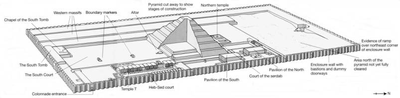 the building of the funerary complex and stepped pyramid of zoser Step pyramid of zoser the step pyramid is 60m high and is the construction of the heb-sed within zoser's funerary complex was therefore intended to.